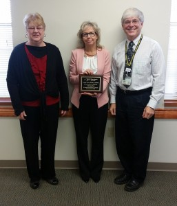 (L-R) Kathy Templar, Director of Finger Lakes Works - Wayne County, Valerie England, Manager of Finger Lakes Works Lyons & Geneva Offices (NYSDOL), and John Vrabel, Deputy Director of Finger Lakes Works - Seneca County.