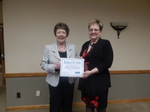 Karen Springmeier (left), Executive Director of the FLWIB, presents the award to Michele Fortune, HR Manager for Rochester Regional Health- Eastern Region.